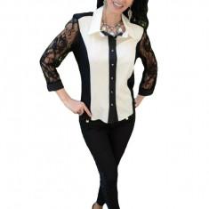 Bluze de ocazie, cu maneci trei-sferturi, negre-albe