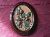 Arta / Decor - Placa ceramica frunze stejar si ghinda design Ingegärd Burmeister