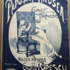 PAPUSICA-PAPUSEA, MUZICA POPULARA DE GEORGE POPESCU / PRIMA COPERTA, CROMOLITO