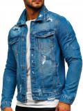Cumpara ieftin Geacă de blugi albastră Bolf AK588