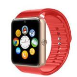 Cumpara ieftin Ceas smart TarTek™ GT08, compatibil SIM si card memorie, camera foto, Bluetooth, Red