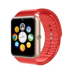 Ceas smart MediaTek™ GT08, compatibil SIM si card memorie, camera foto, Bluetooth, Red