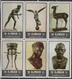 Ajman, sculptura bronz, antica, 1972, MNH, Nestampilat