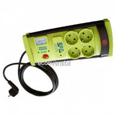 Prelungitor cu Protectie 4 Prize si USB, Cablu 3m, 3x1mm Vipex