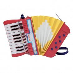 Acordeon pentru copii Toy Band, 6 butoane bass, 3 ani+