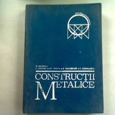 CONSTRUCTII METALICE - D. MATEESCU (CURS PENTRU SUBINGINERI)