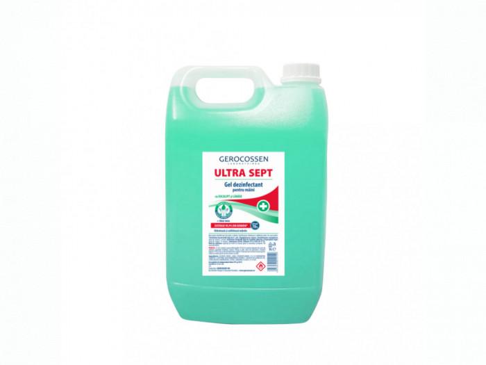 Gel dezinfectant maini Biocid ULTRA SEPT - Distruge 99,9% din germeni, 5 litri