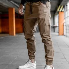 Pantaloni joggers cargo pentru bărbat camel Bolf 0404