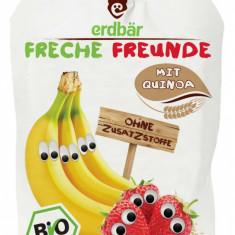 Piure de banane, capsuni si quinoa bio 100g