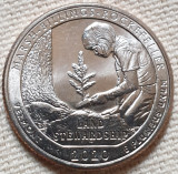 Monedă 25 cents / quarter 2020 USA, Vermont, Rockefeller, unc, litera P sau D, America de Nord
