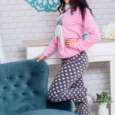 Pijama pufoasa ideala pentru nopti confortabile si calduroase!