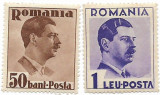 Carol II - uzuale, 1935 - 50 B, 1 L, NEOBLITERATE, Regi, Nestampilat