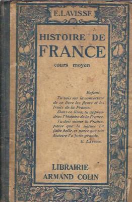 Histoire de France. Cours Moyen - Ernest Lavisse (1925, cartonata) foto