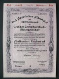 Titlu De Stat Obligatiune Germania-1940-500-Reichsmark