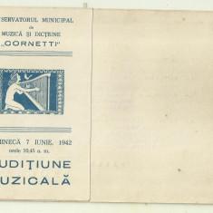 Program Conservatorul Cornetti 1942 : cu reproducerea dedicatiei lui G.Enescu