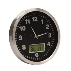 Ceas de perete cu termometru Home AWC 30T, diametru 30 cm Mania Tools