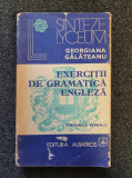 EXERCITII DE GRAMATICA ENGLEZA - Georgiana Galateanu 1979