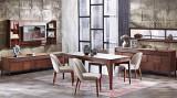 Cumpara ieftin Set de mobila dining din pal, 9 piese Noble Nuc