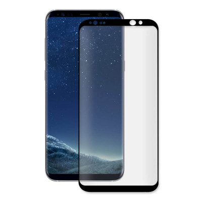 Folie Sticla Samsung Galaxy S8 g950 Black Fullcover Tempered Glass Ecran Display LCD foto
