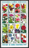 Guineea Ecuatorială - 1979 - Flori - serie completă obliterată în bloc (T1), Stampilat