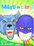 Masti de colorat - Eroi si monstri |