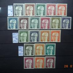 1970/72  Germania ( RFG )  -  Trei serii complete**, Nestampilat