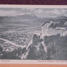 ROM- RASNOV- ROSENAU - COMUNA SI CETATEA- VEDERE VECHE 1930-40- ED. A. MARZELL