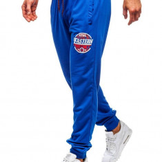 Pantaloni de trening bărbați albastru Bolf MK05