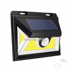 Lampa COB LED Incarcare Solara cu Senzor de Lumina On/Off