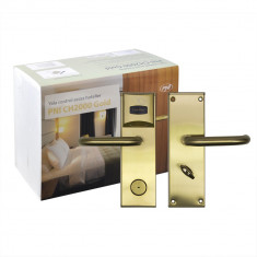 Aproape nou: Yala control acces hotelier PNI CH2000L Gold cu cititor de card deschi