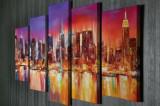 Tablou decorativ pe panza Majestic, 5 Piese, 257MJS1343, Multicolor