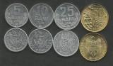 MOLDOVA  SET / LOT 4 buc  , 5 BANI + 10 BANI + 25 BANI  + 50 BANI 2008 , a UNC