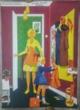 Locuinta noastra, vestibulul// plansa pedagogica din perioada comunista