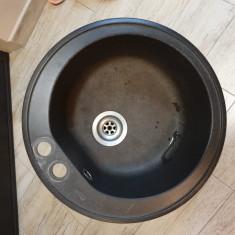Chiuveta de bucatarie, model standard, negru, TRANSPORT GRATUIT