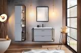 Set Mobilier pentru baie, 4 piese, Manhattan Grey
