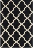 Covor Modern & Geometric Ava, Lana, Negru/Bej, 120x180, Safavieh