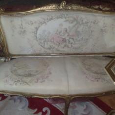 canapea cu fotolii frantuzesti,antice/vintage,inceput 1900,baroc/ludovic/rococo