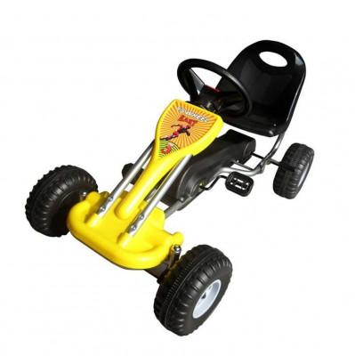 Kart cu pedale Go Kart, galben foto