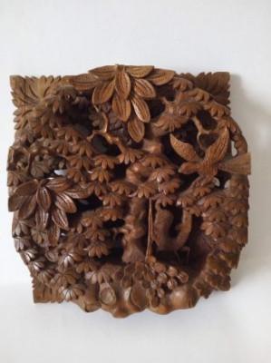 Sculptura din lemn veche ( Bali) foto