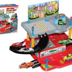 Set joc parcare cu 2 etaje + 2 masinute si mai multe accesorii