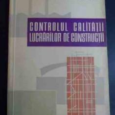 Controlul Calitatii Lucrarilor De Constructii - N. Teodorescu, St. Enescu ,547664