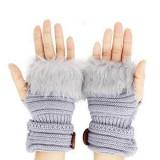 Cumpara ieftin Manusi tricotate cu blanita, fara degete