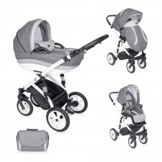 Carucior 3 in 1 Mia Air Light Dark Grey, Lorelli