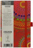 Cumpara ieftin Bloc Notes Ivory Graphic, 192 pagini, velin, motiv Exotic