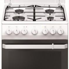Aragaz mixt Hansa FCMW581009, cuptor electric, 50 cm, 4 arzatoare, programator, 8 functii, grill, ventilator, aprindere electrica, capac email, sertar