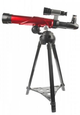 Telescop de jucarie, observator astronomic pentru copii de 460mm, inaltime reglabila, zoom 20x, 30x si 40x, rosu - C2117 foto
