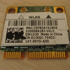 Placa wireless laptop Dell Latitude E6320, BCM943228HM4L, DW1530, 01JKGC