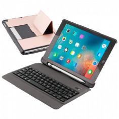 Husa carcasa cu tastatura detasabila Bluetooth Wireless pentru iPad Air / iPad Air 2 / Ipad Pro 9.7 / iPad 9.7 2017 / 2018, rose gold