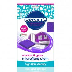 Laveta din microfibra pentru sticla si geamuri, Ecozone, 1 buc