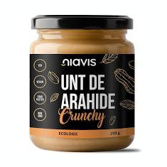 Unt de Arahide Crunchy Bio 250gr Niavis Cod: NIA130